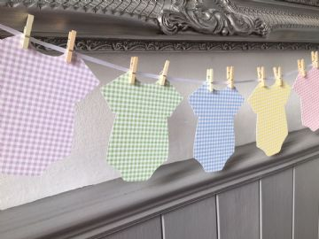 Baby Shower Onesie Bunting